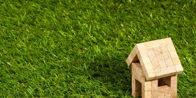 small wooden house on grass