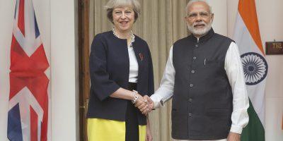 theresa may narendra modi india uk prime minister