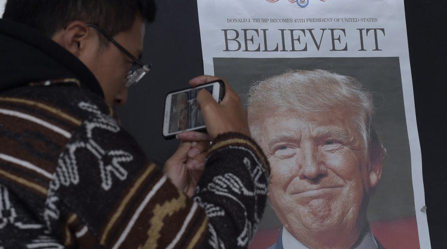 china newspapers donald trump america