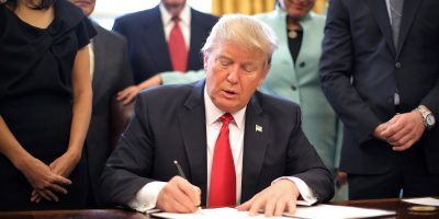 us president donald trump signing executive order