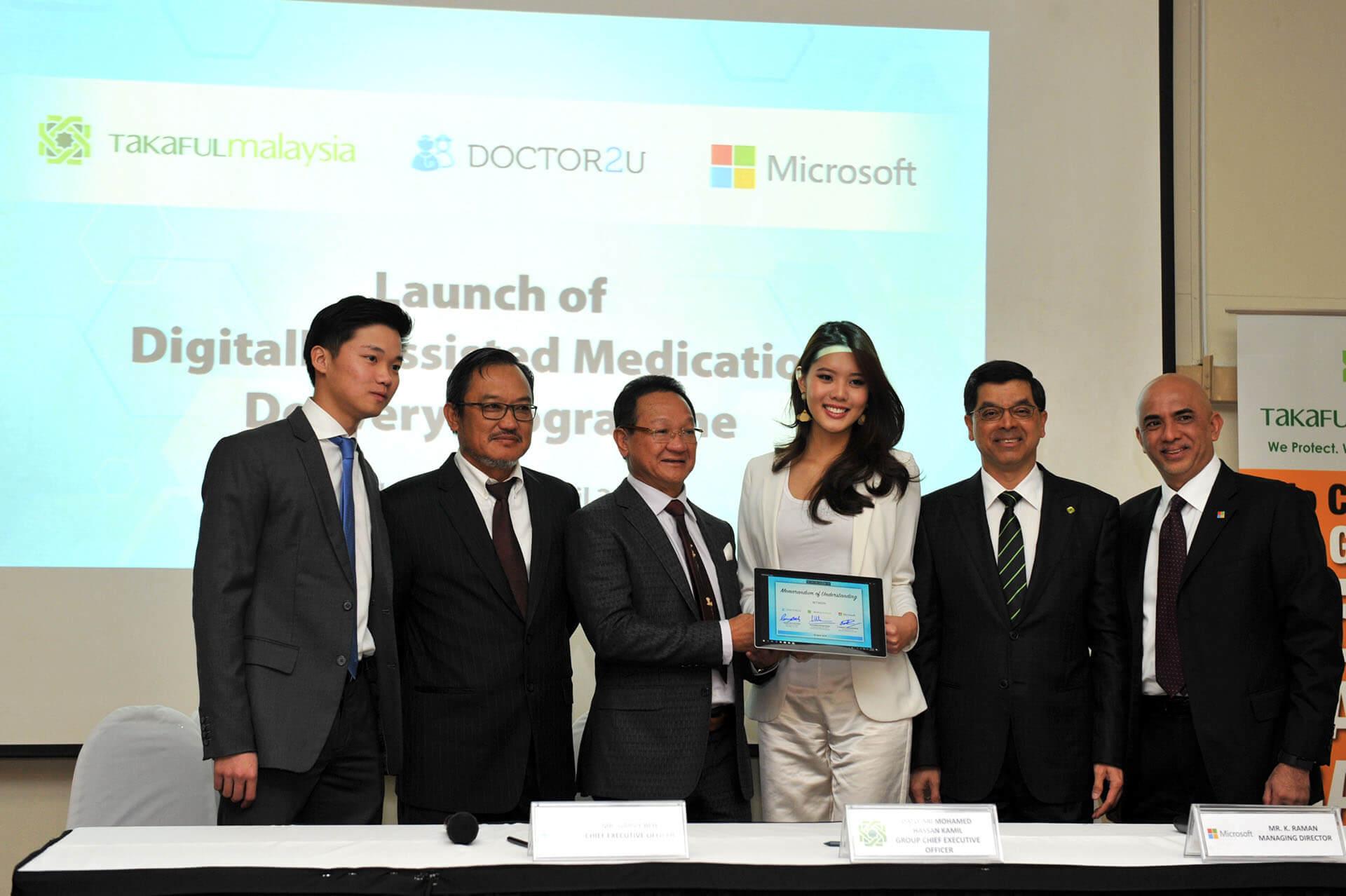 Takaful Malaysia, Doctor2U and Microsoft signs a joint partnership